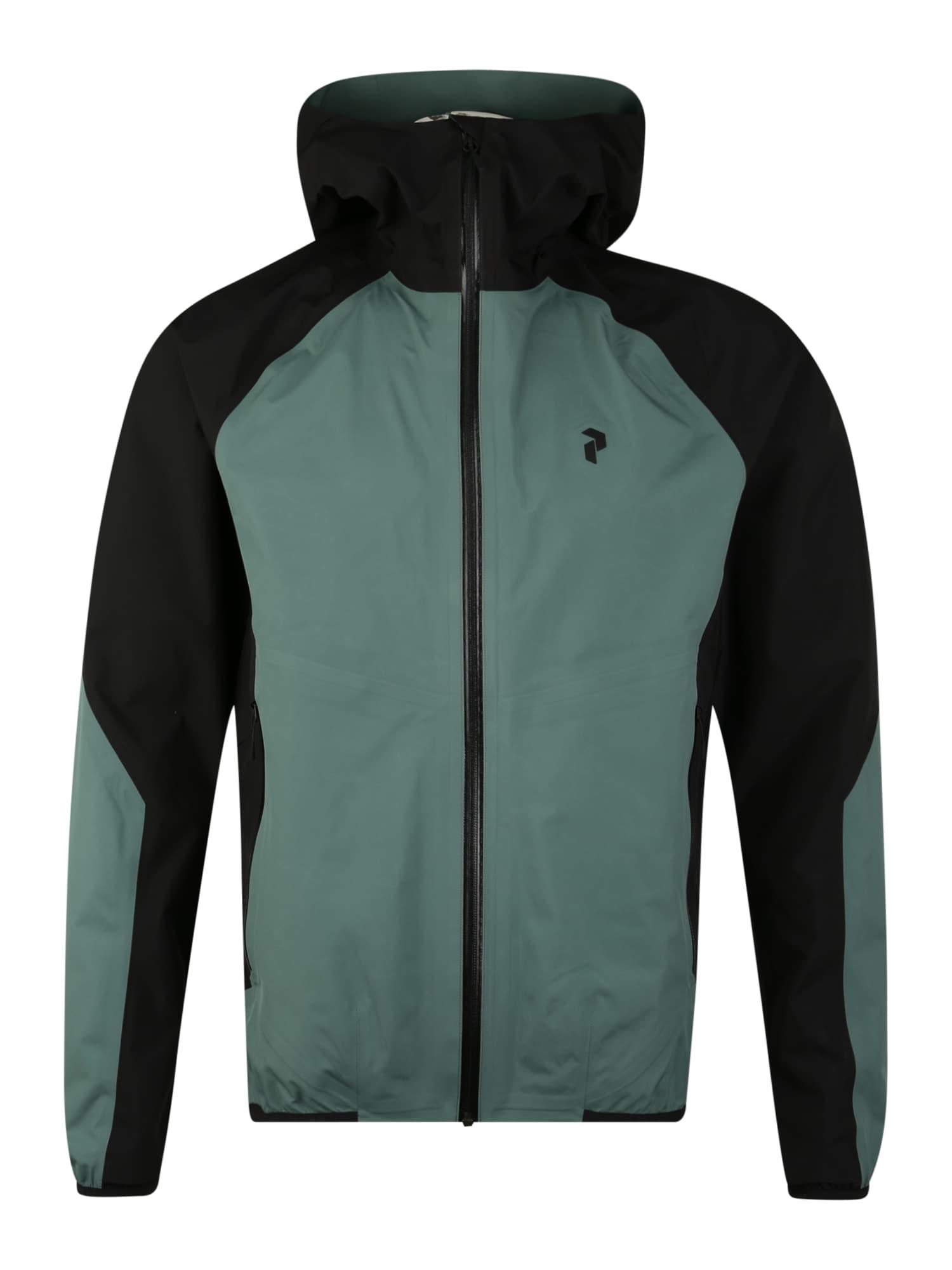 PEAK PERFORMANCE Sportinė striukė 'PAC' žalia / juoda