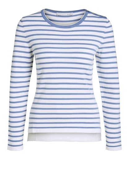 Oberteile für Frauen - OUI Pullover royalblau weiß  - Onlineshop ABOUT YOU