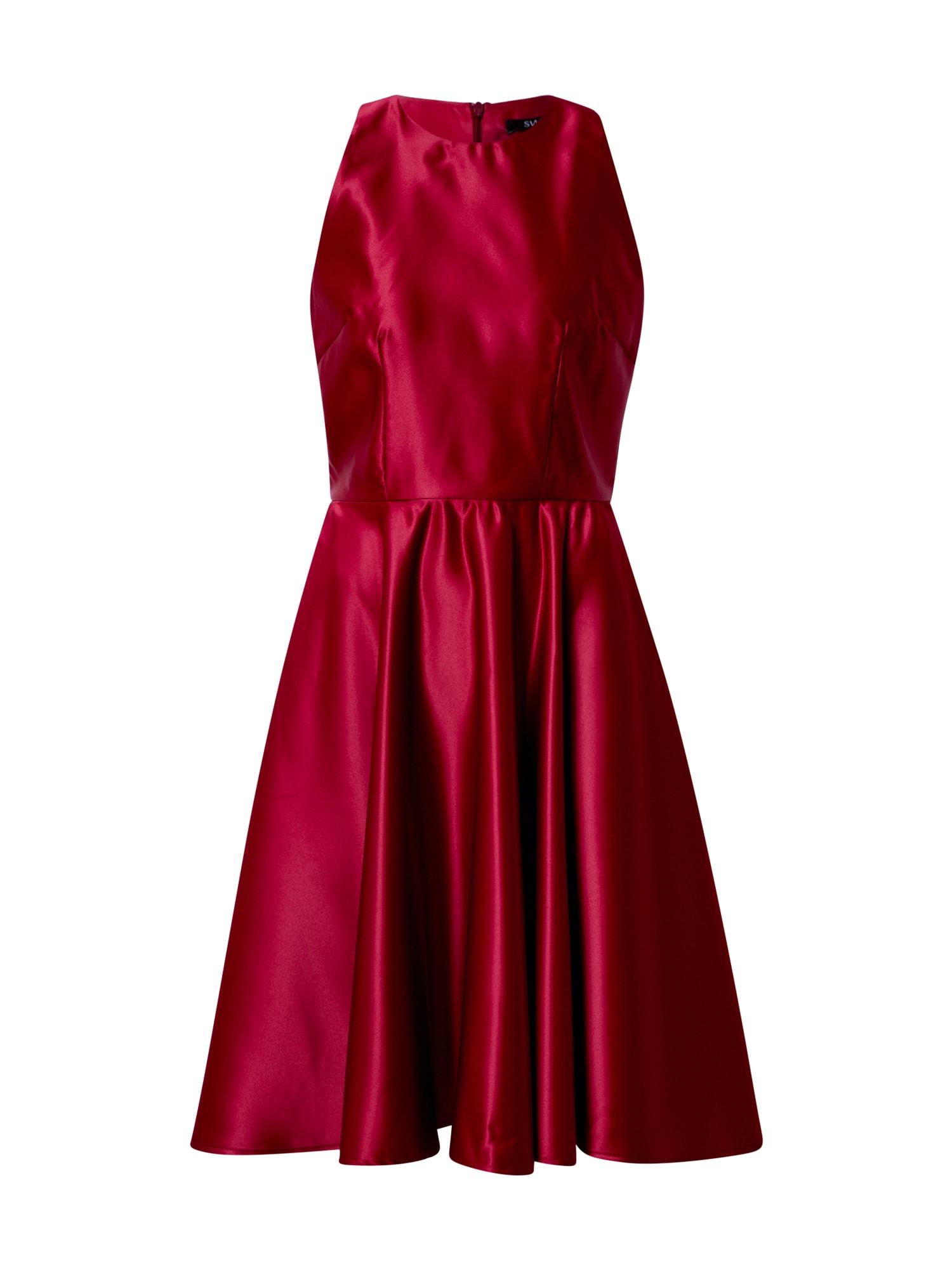 SWING Kokteilinė suknelė vyšninė spalva