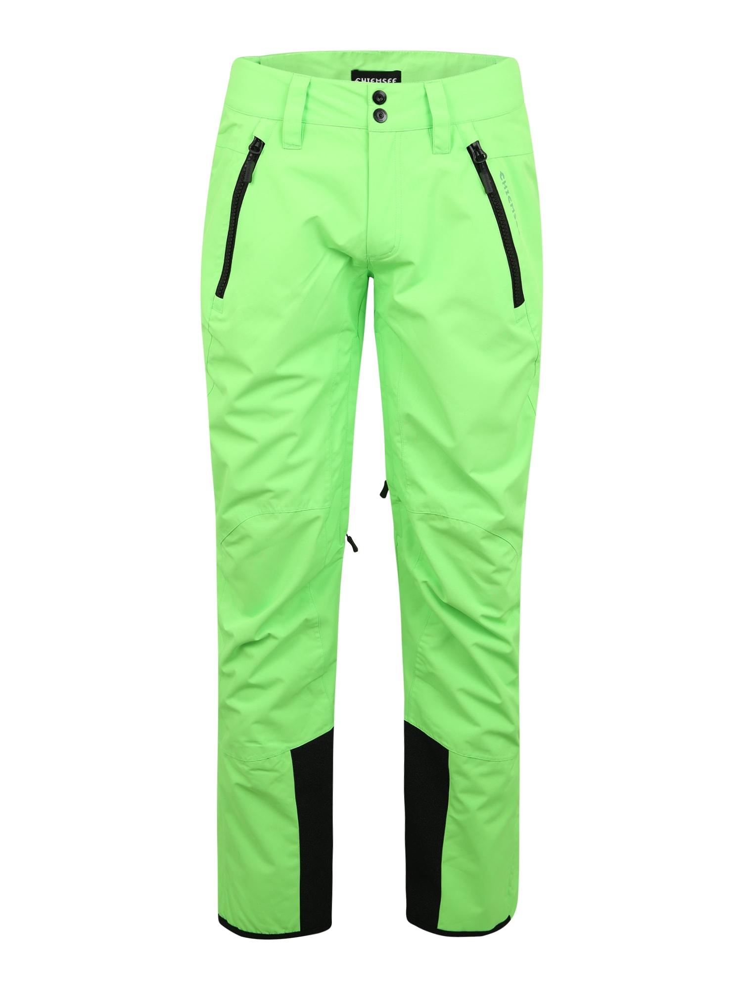 CHIEMSEE Laisvalaikio kelnės neoninė žalia
