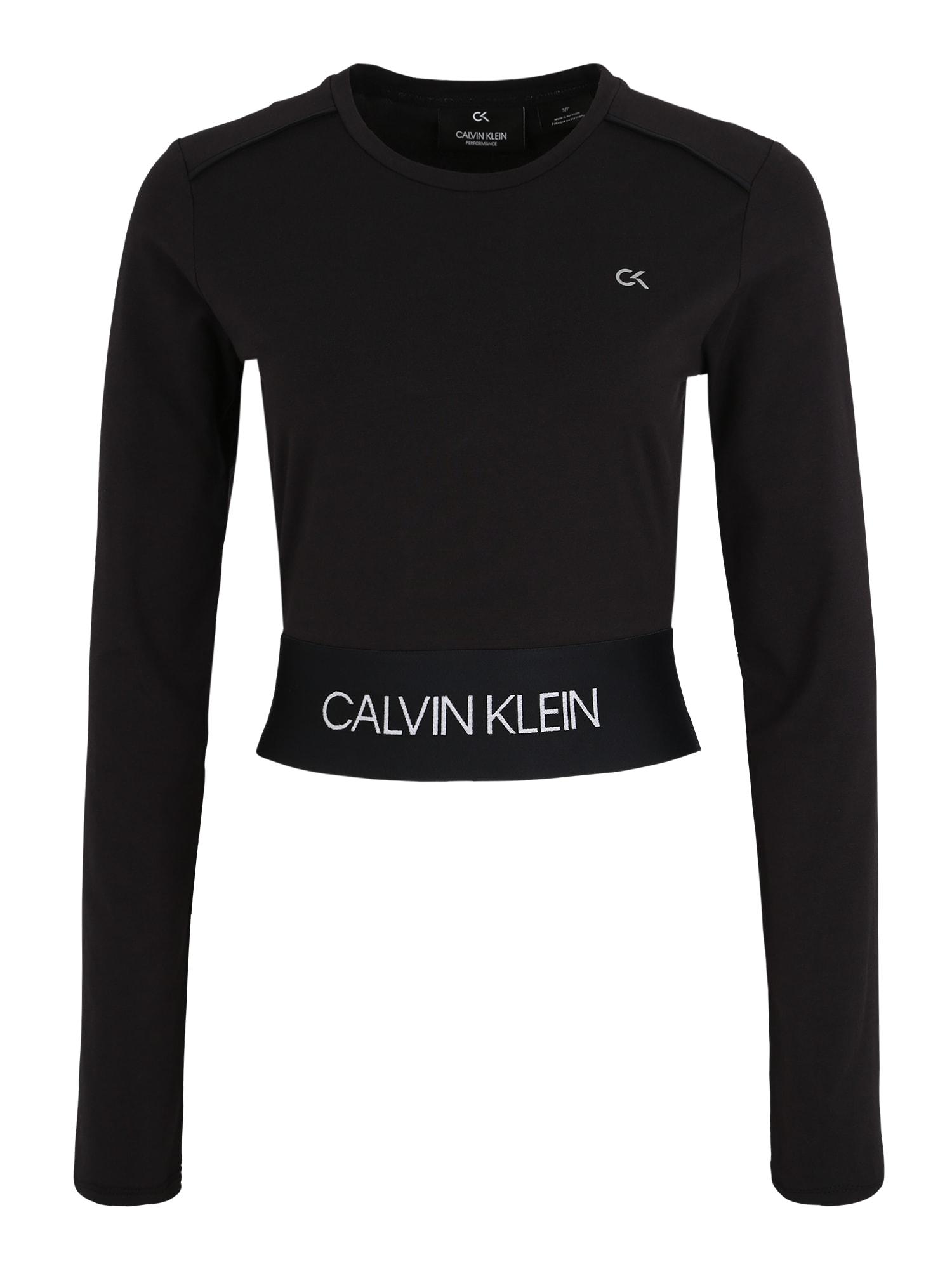 Funkční tričko LONG SLEEVE TEE černá Calvin Klein Performance