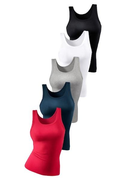 Bademode - Petite Fleur Feinripp Tanktop Unterhemd »Cotton made in Africa« (5 Stück) › PETITE FLEUR › weiß marine grau grenadine schwarz  - Onlineshop ABOUT YOU