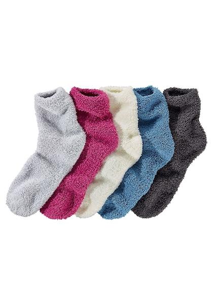 Socken für Frauen - LAVANA Kuschelsocken (5 Paar) ecru blau anthrazit silbergrau pink  - Onlineshop ABOUT YOU