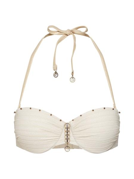 Bademode für Frauen - Bikinitop 'Gold Stripe Goddess PU PW' › Hunkemöller › beige  - Onlineshop ABOUT YOU