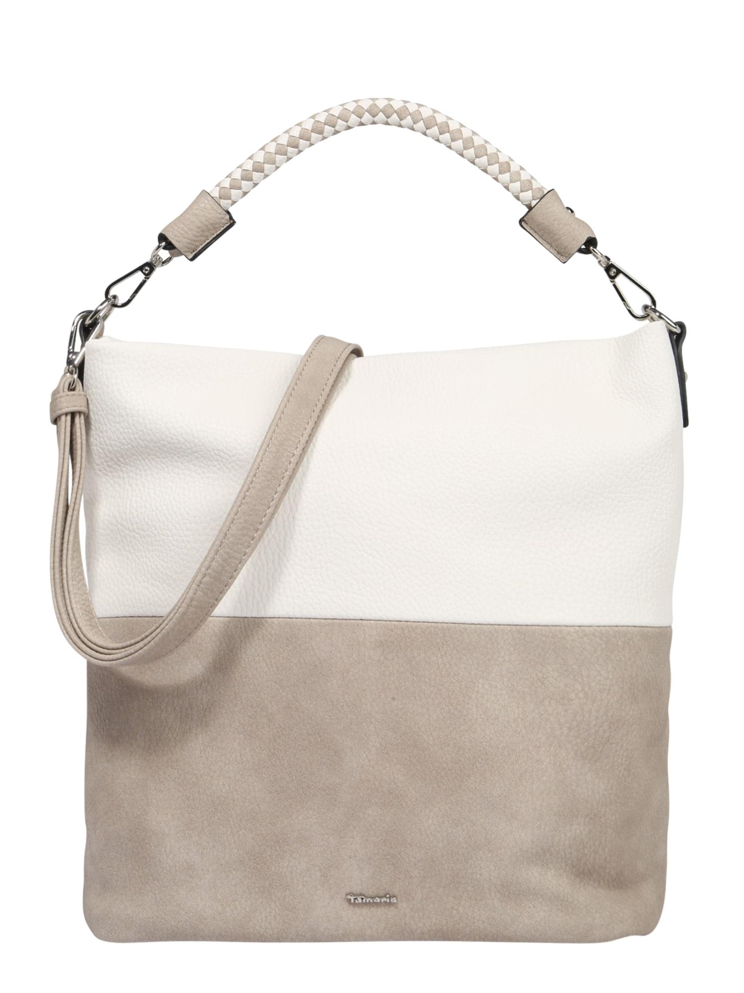 TAMARIS Sutrauktinė rankinė 'Annelie' smėlio / balta