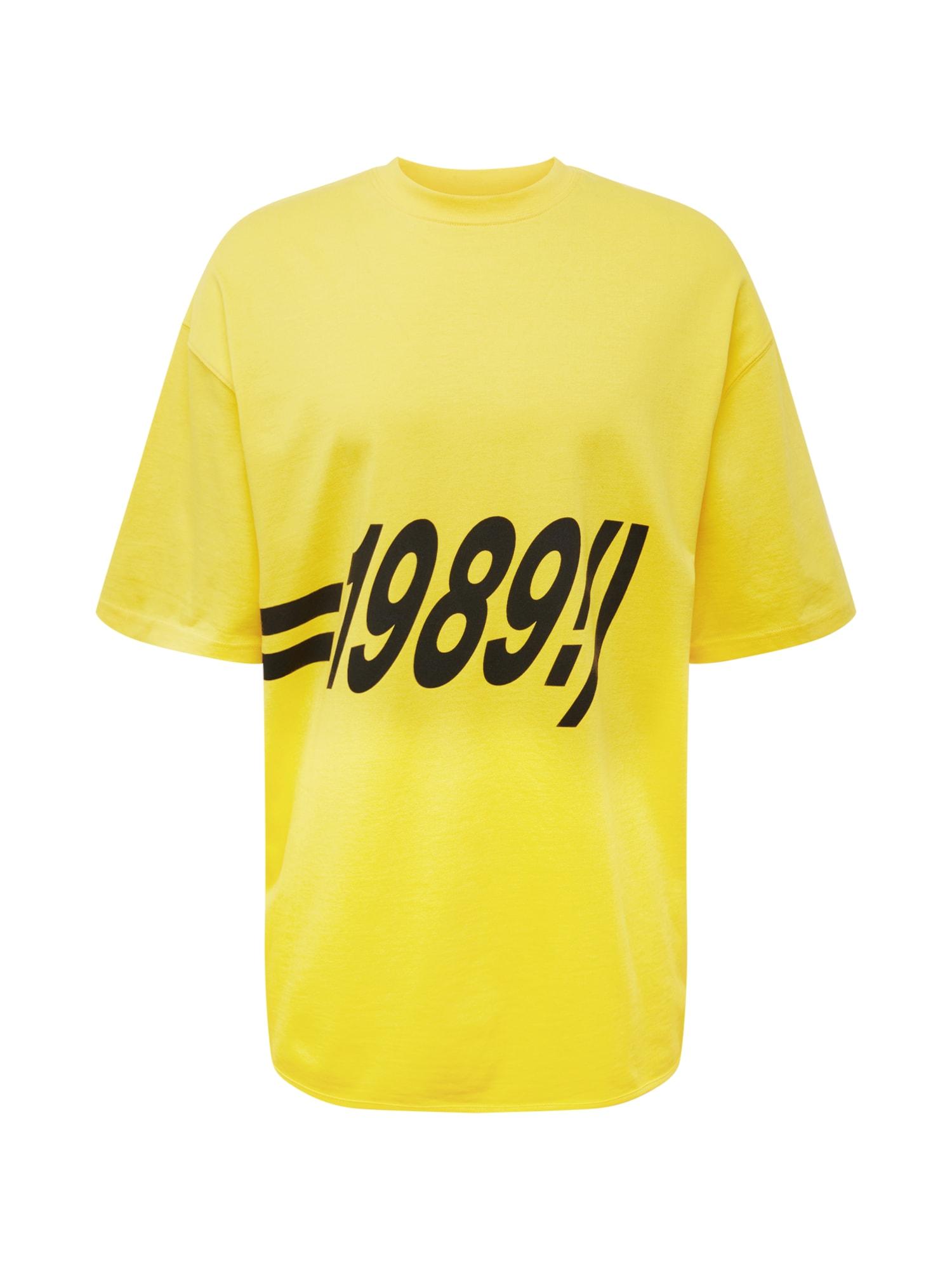 Tričko Tshirt 1989 žlutá černá Magdeburg - Los Angeles