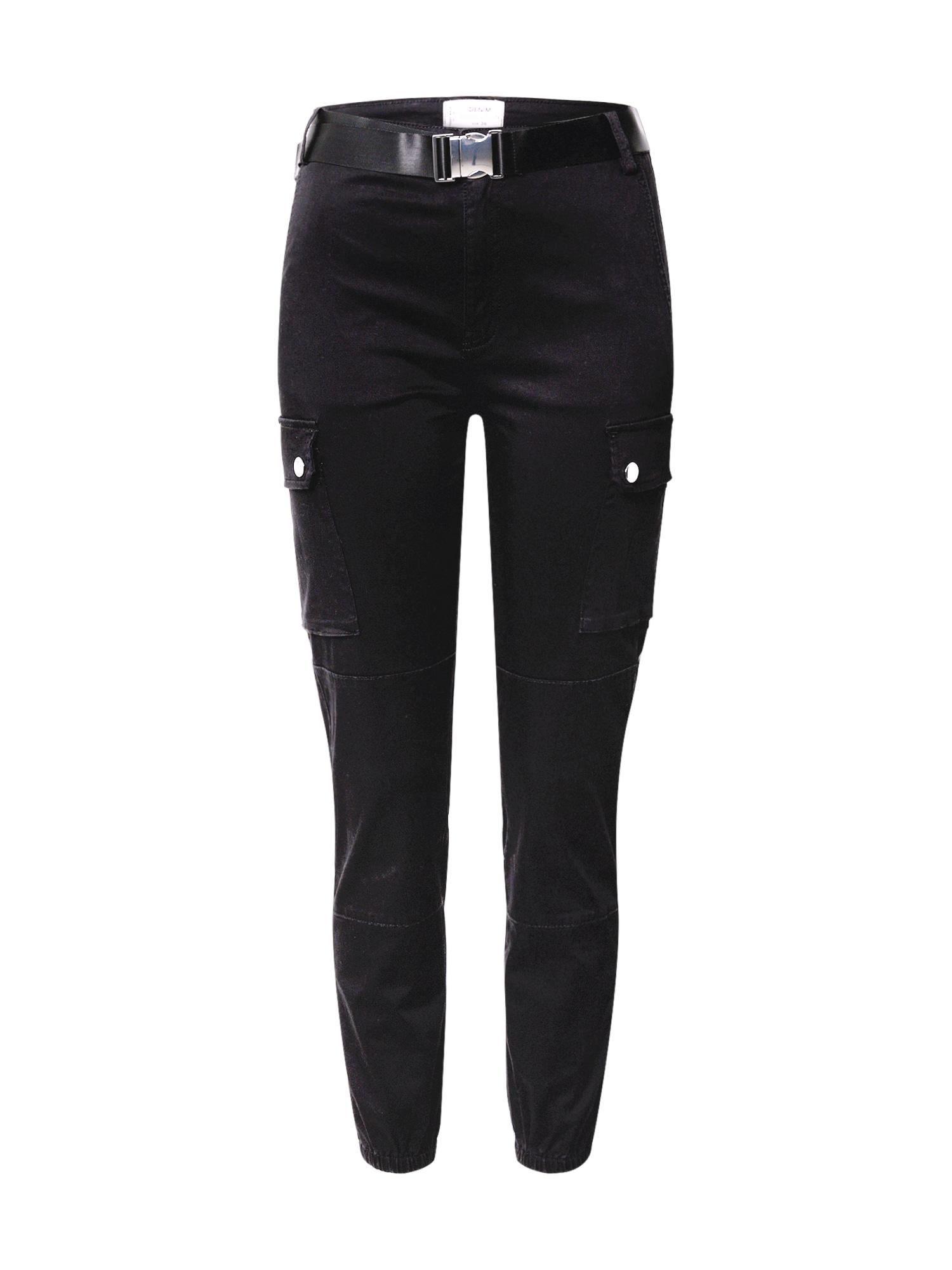Tally Weijl Darbinio stiliaus džinsai juodo džinso spalva