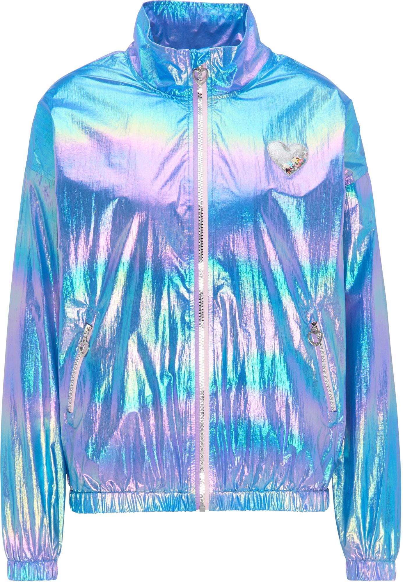 MYMO Demisezoninė striukė šviesiai mėlyna / mišrios spalvos