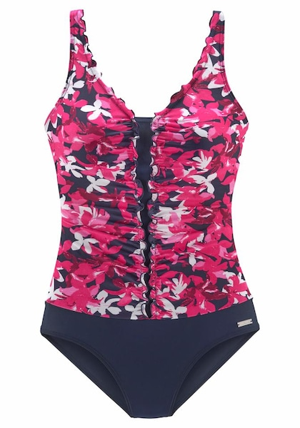 Bademode - Badeanzug › PETITE FLEUR › pink weiß dunkelblau  - Onlineshop ABOUT YOU