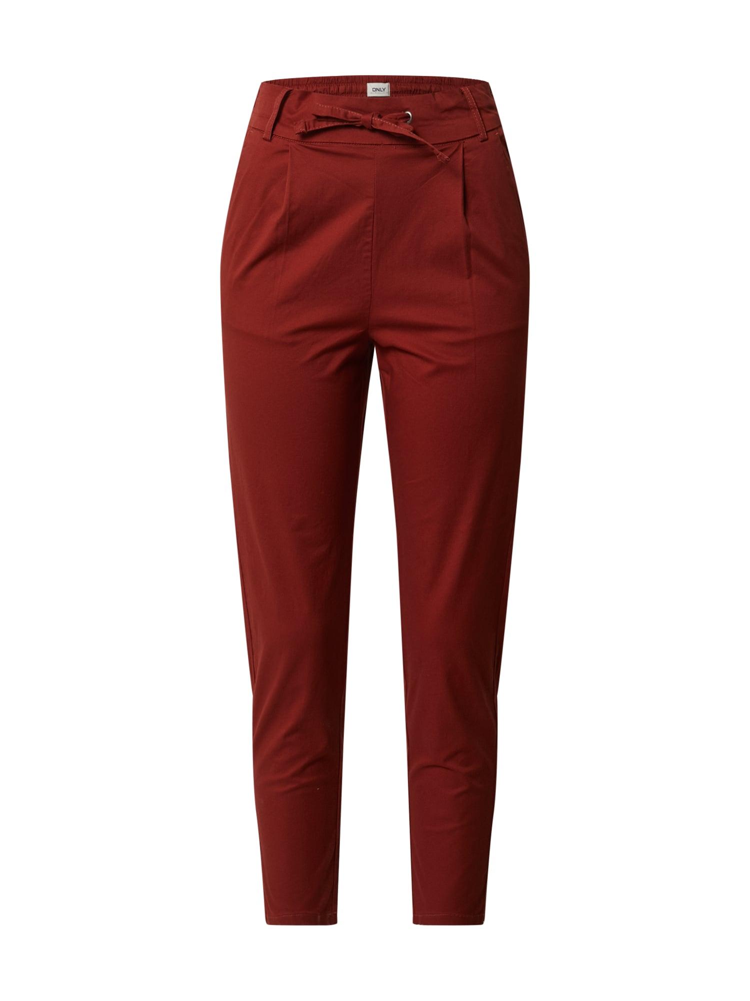ONLY Plisované nohavice 'ONLPOPTRASH'  hrdzavo červená