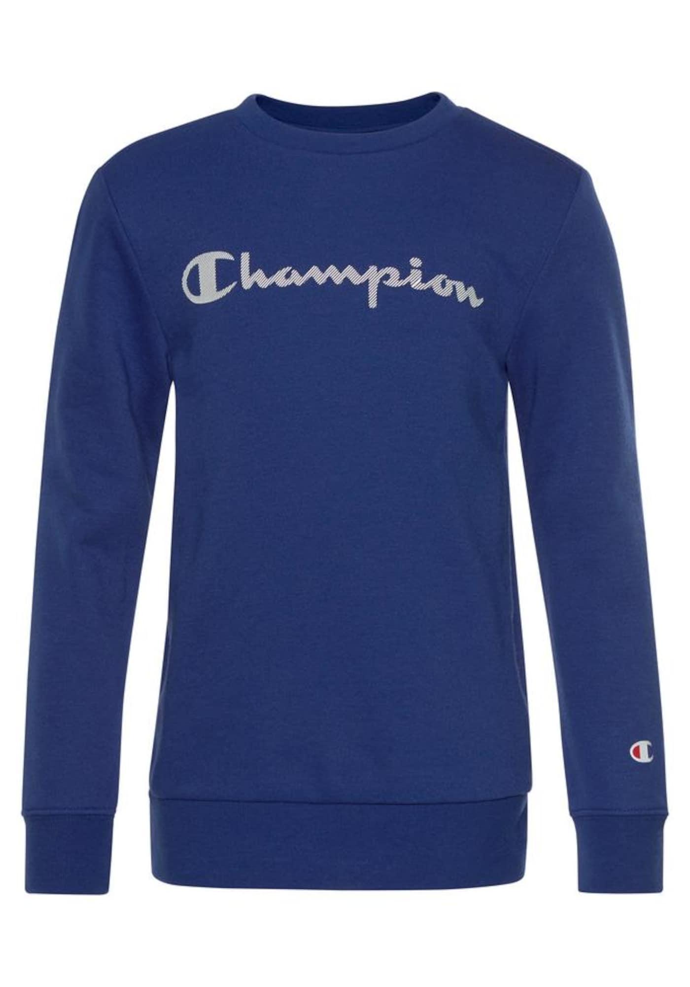 Champion Authentic Athletic Apparel Megztinis be užsegimo mėlyna / pilka / balta / šviesiai raudona