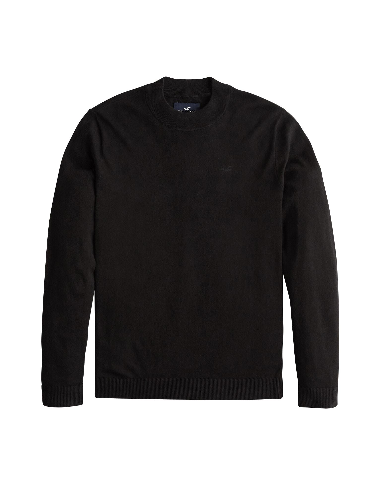 HOLLISTER Megztinis 'XM19-FG MOCK 3CC' juoda