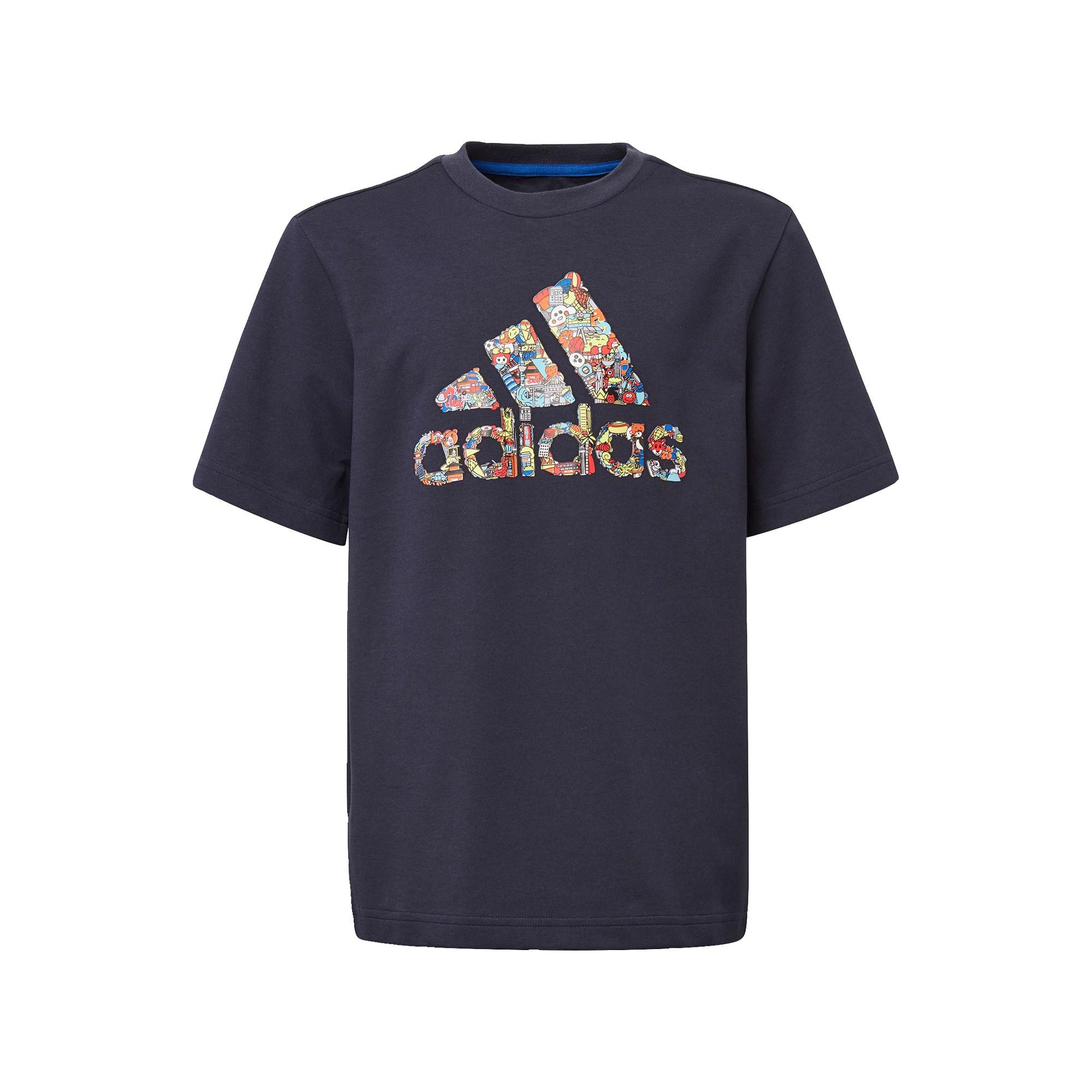 ADIDAS PERFORMANCE Funkčné tričko 'B Art Tee'  modré / zmiešané farby