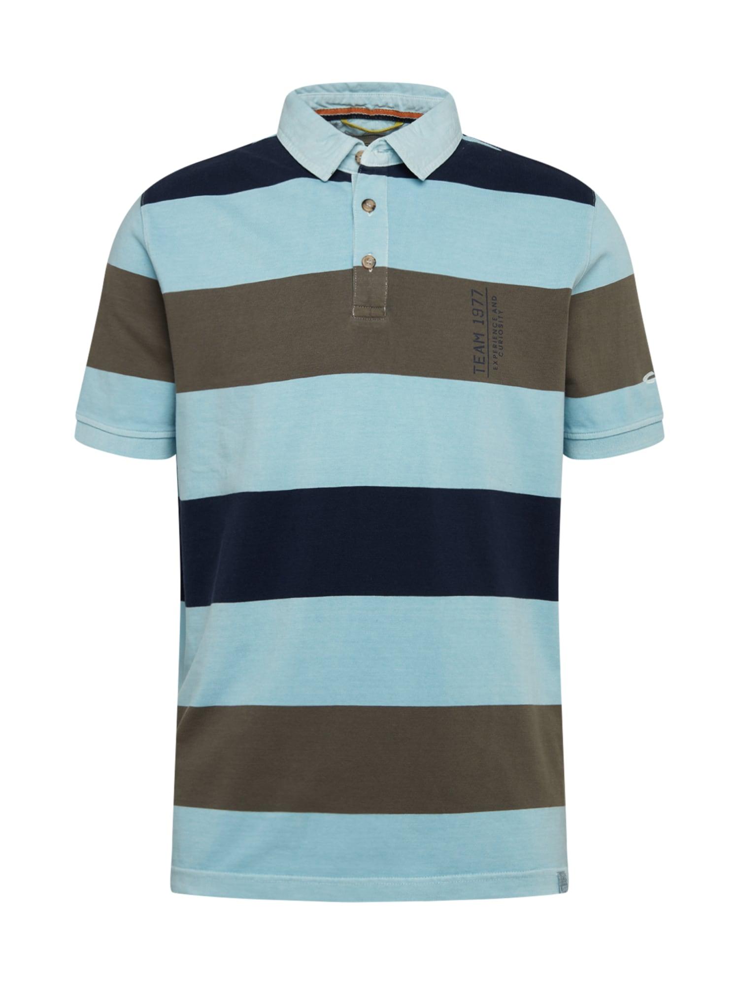 CAMEL ACTIVE Marškinėliai rusvai žalia / šviesiai mėlyna