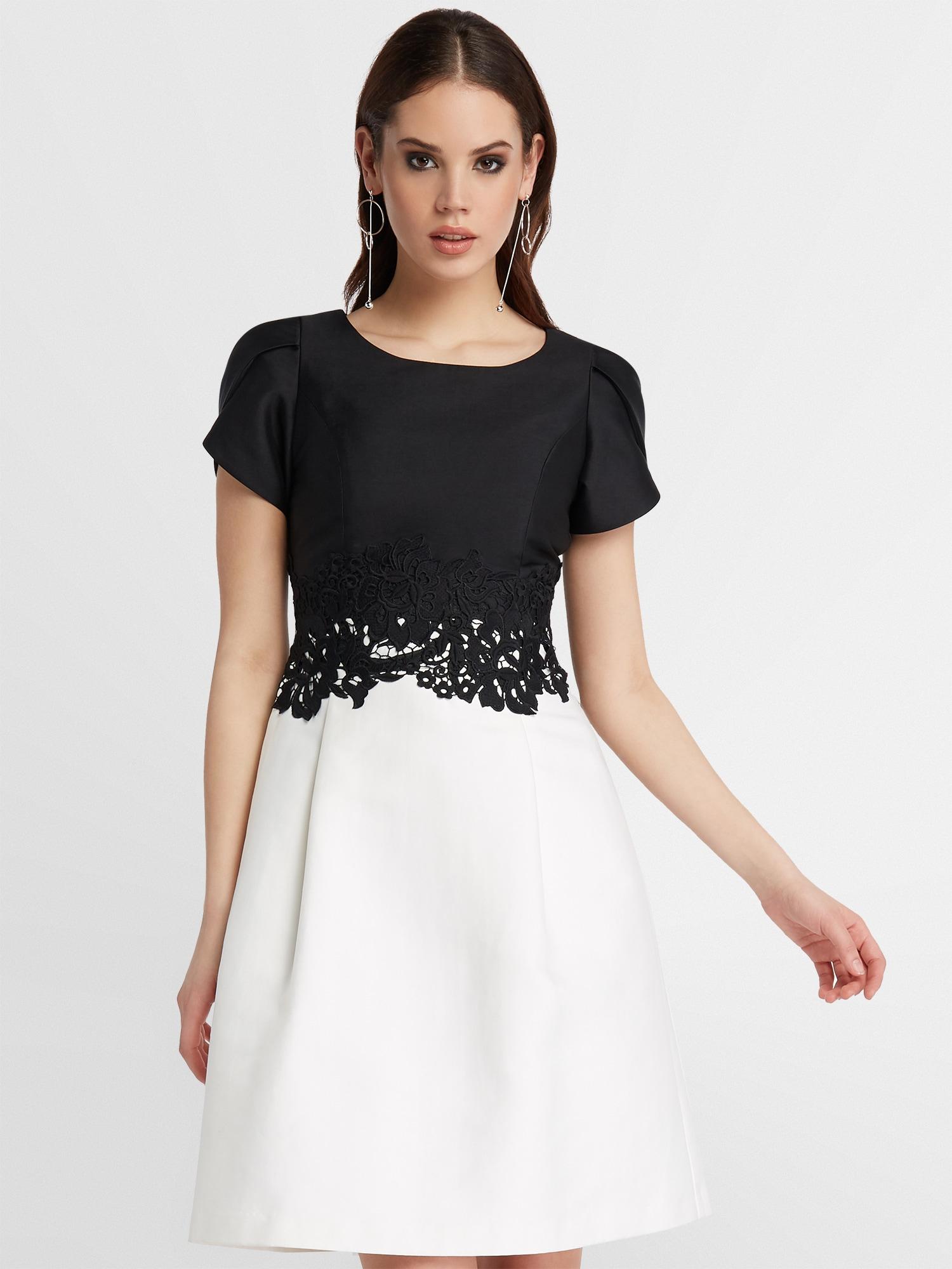 APART Kleid creme / schwarz - Schwarzes Kleid