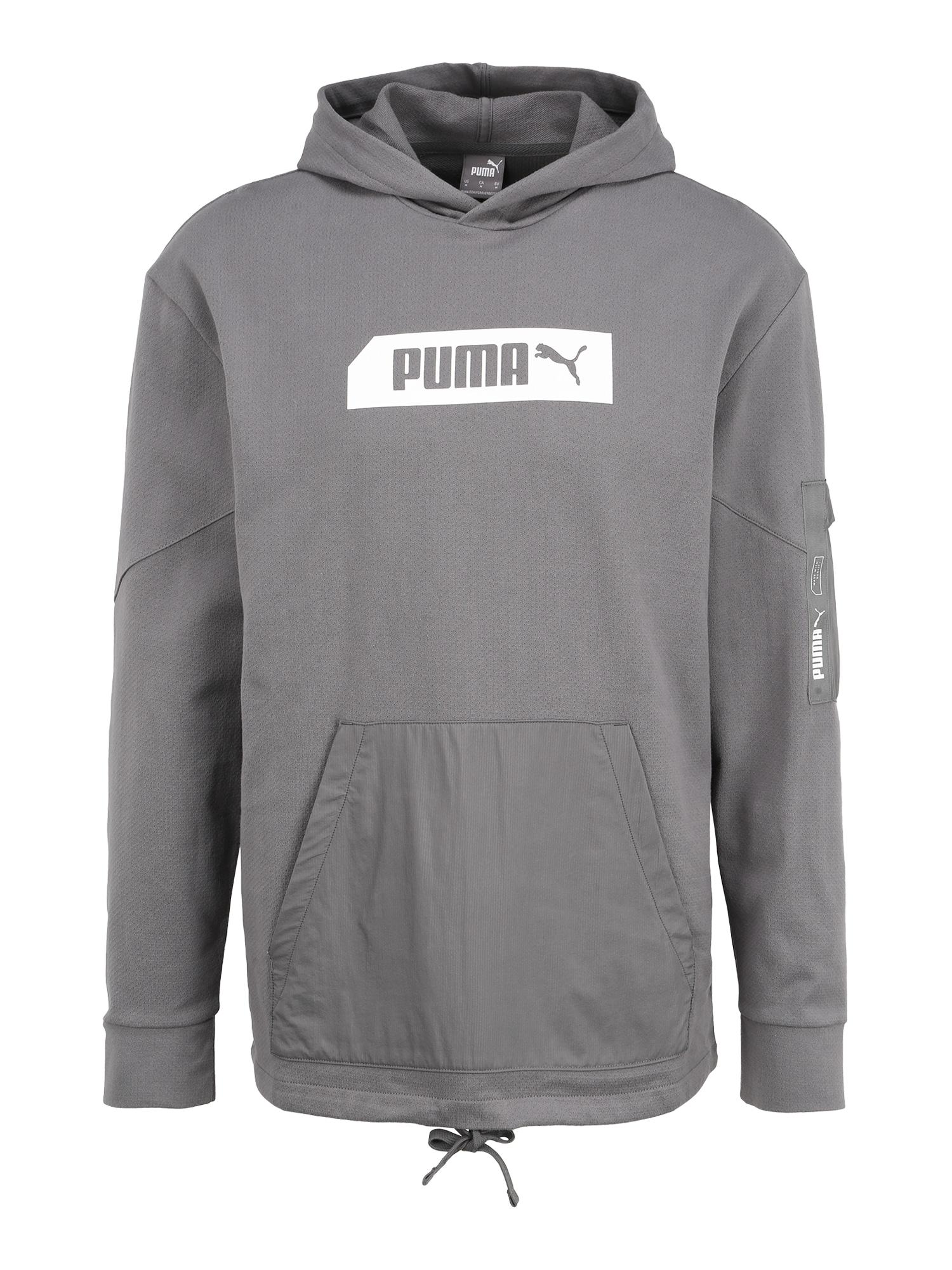 PUMA Športový sveter 'NU-TILITY'  sivá / tmavosivá