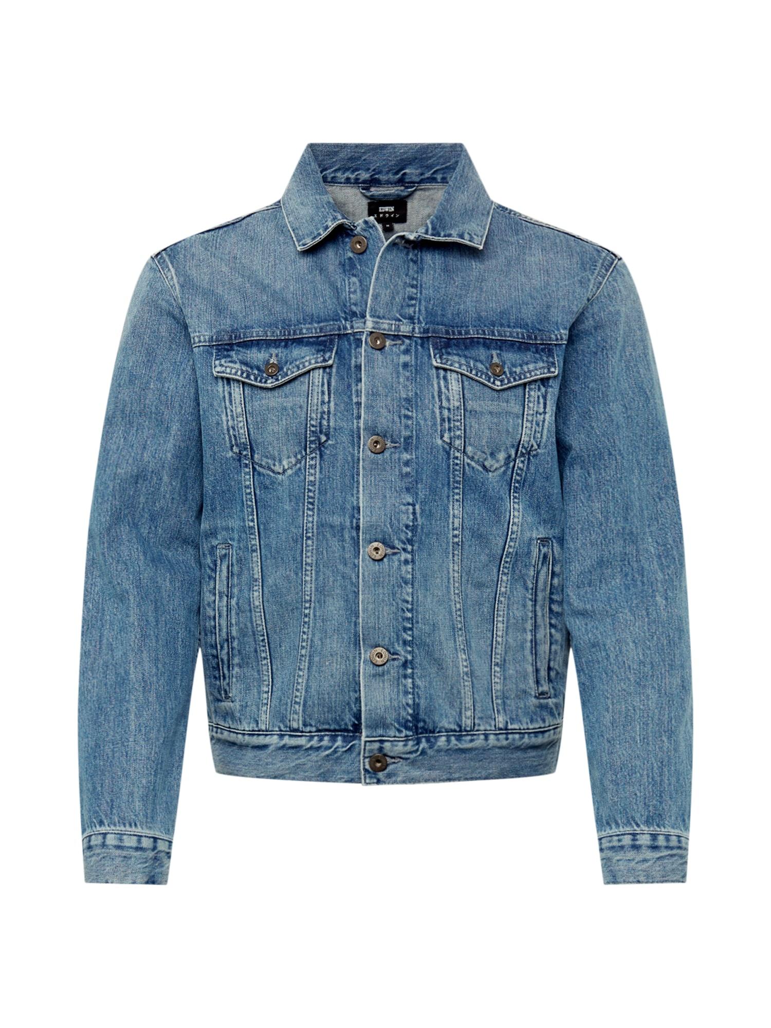 Přechodná bunda modrá džínovina EDWIN