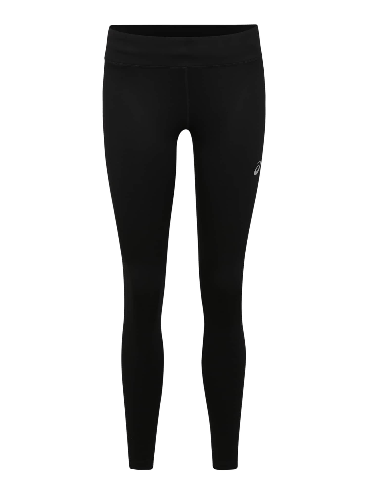 ASICS Sportinės kelnės juoda / balta
