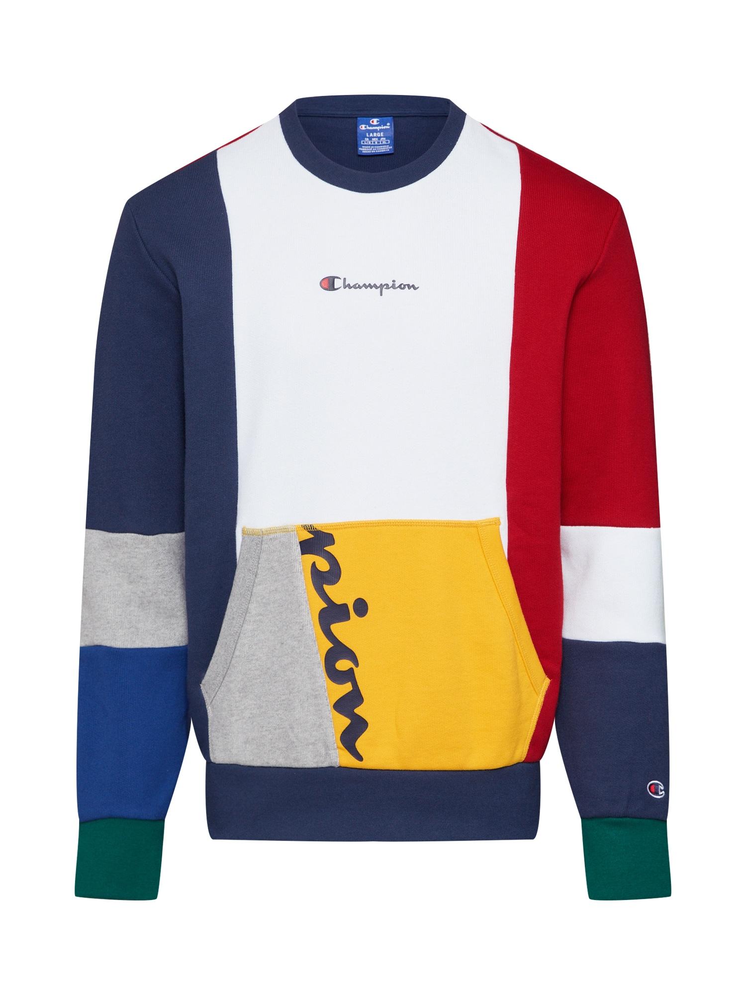 Champion Authentic Athletic Apparel Megztinis be užsegimo 'Crewneck Sweatshirt' tamsiai mėlyna / balta / raudona