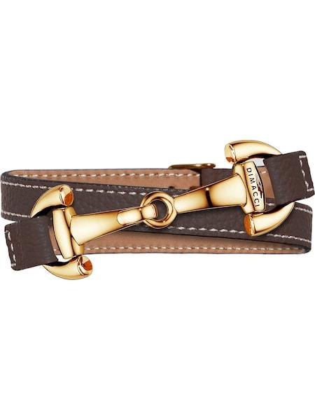 Armbaender für Frauen - Dimacci Armband braun gold  - Onlineshop ABOUT YOU