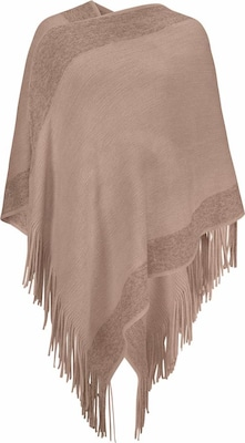 Cream Strickcape 'BIANCA'