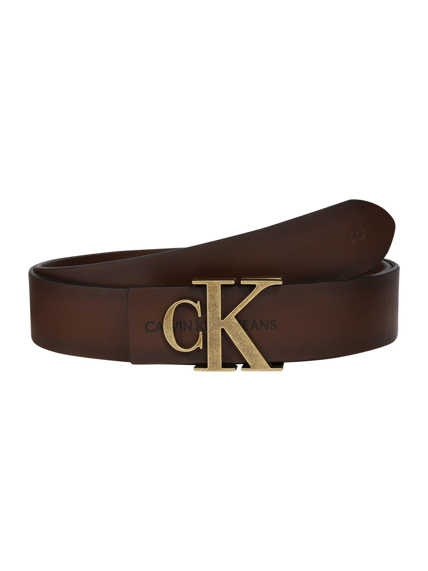 Calvin Klein Opasky 'CKJ MONO HARDWARE 30MM'  zlatá / hnedé