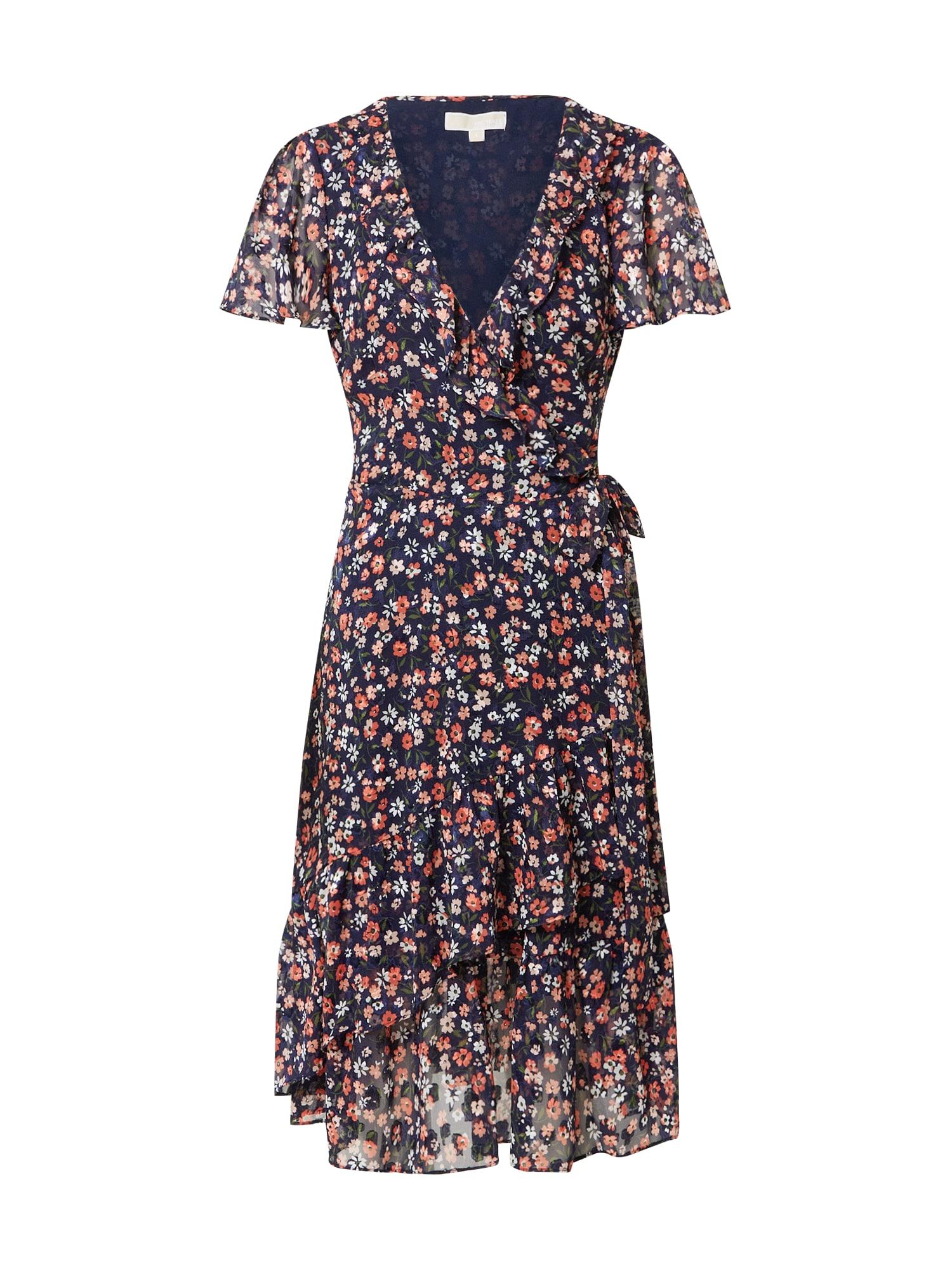 MICHAEL Michael Kors Vasarinė suknelė persikų spalva / koralų splava / nakties mėlyna