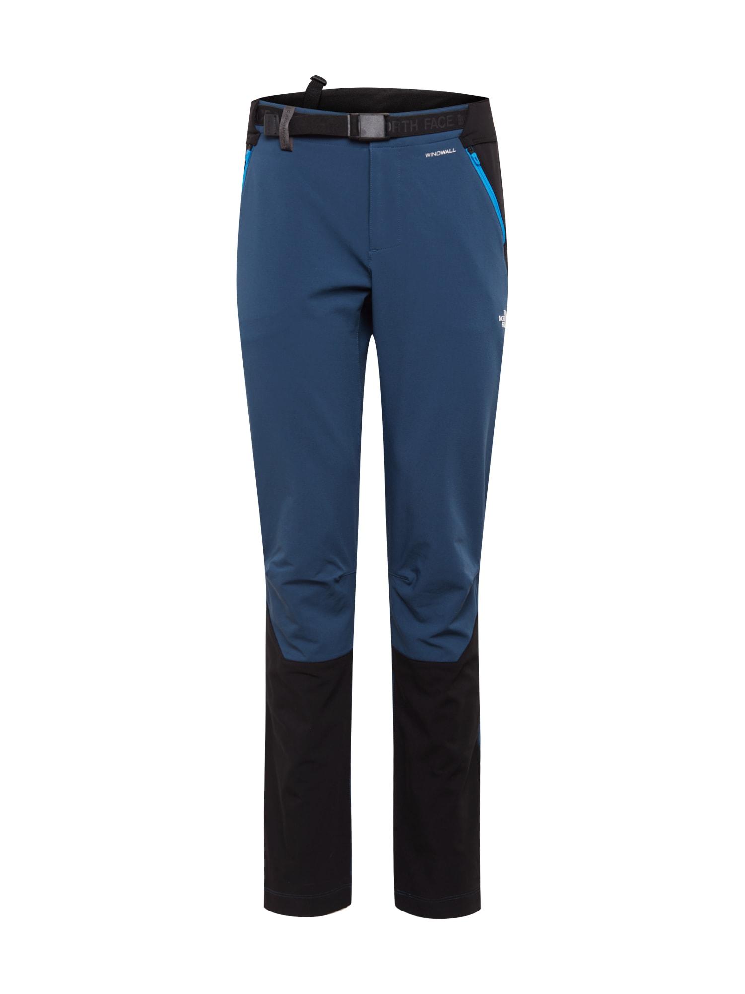 THE NORTH FACE Športové nohavice 'DIABLO'  čierna / modrá