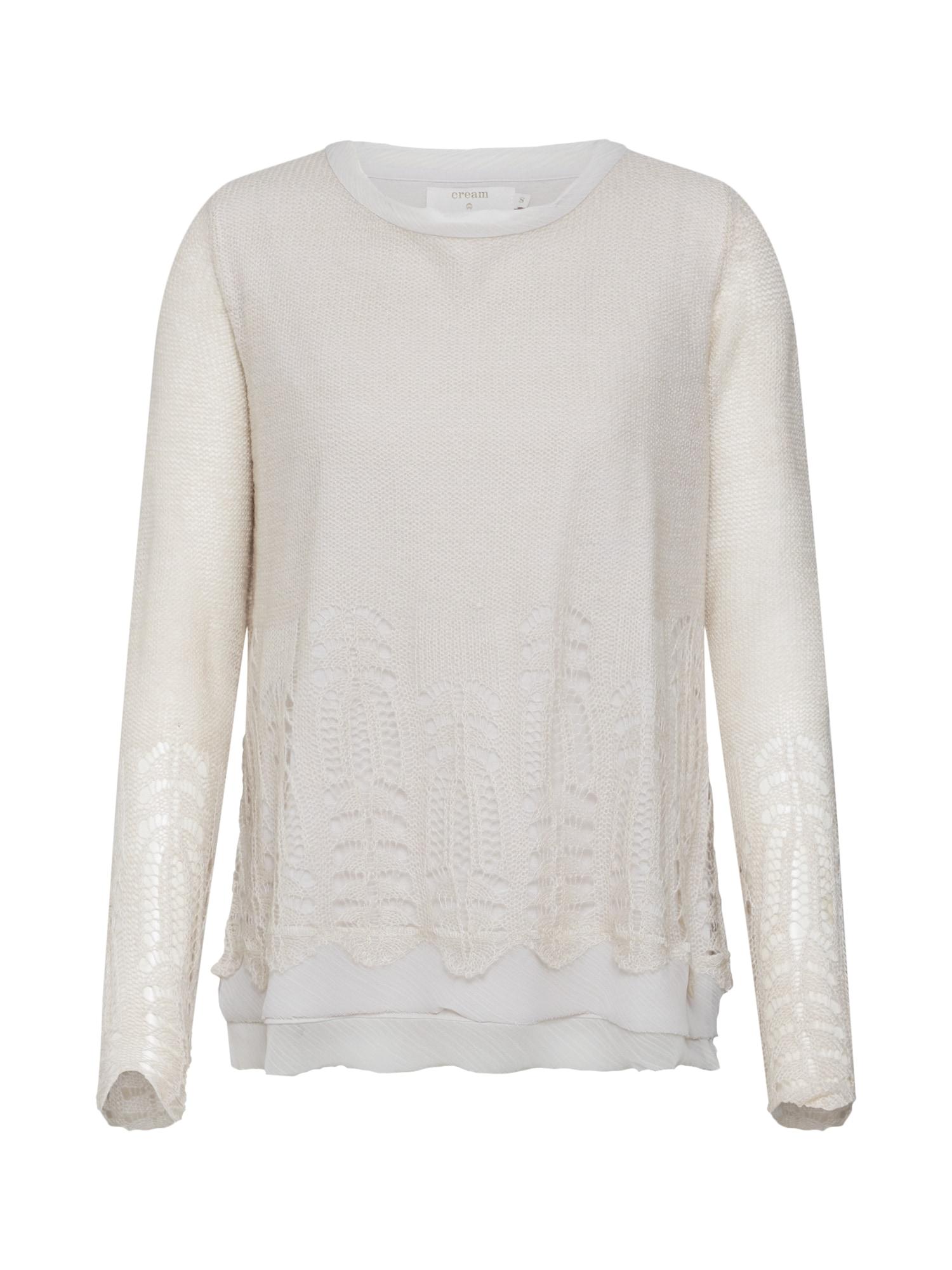 Cream Megztinis kremo