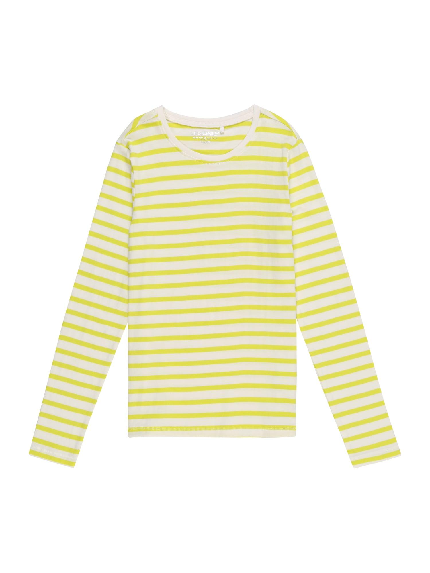 KIDS ONLY Marškinėliai 'KONPURE L/S TOP JRS' geltona / balta