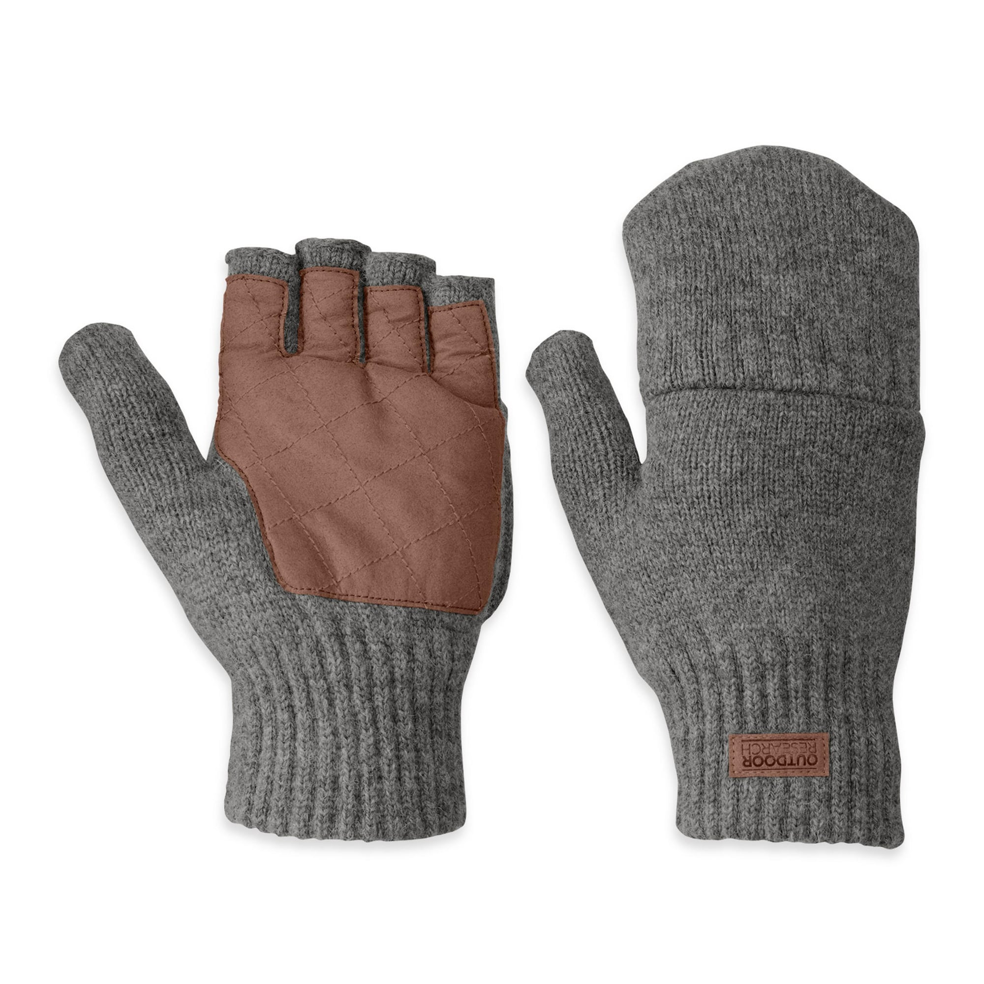 Handschuhe für Frauen - Outdoor Research Outdoor Research Lost Coast Klappfäustlinge braun grau  - Onlineshop ABOUT YOU