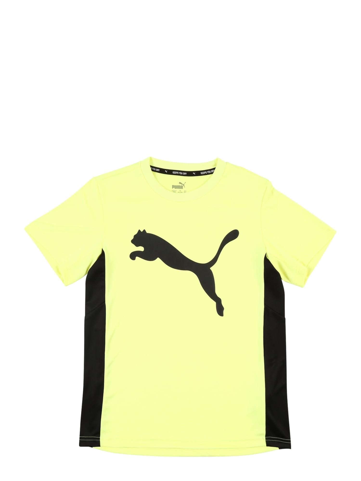PUMA Sportiniai marškinėliai geltona / juoda