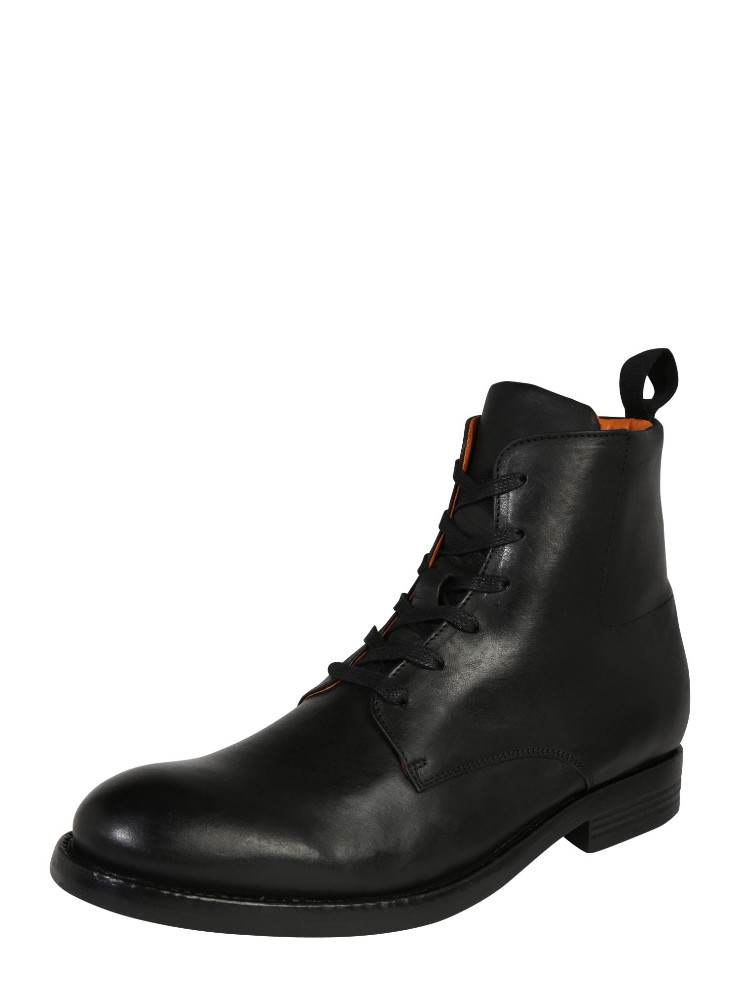 Šněrovací boty ACE černá Bianco