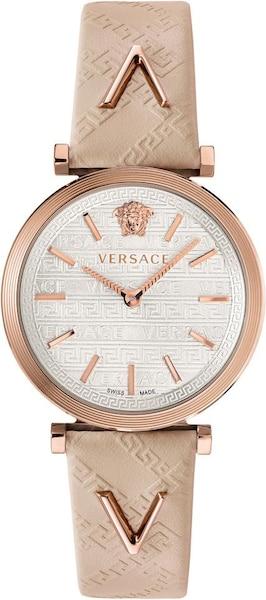 Uhren für Frauen - VERSACE Uhr 'V Twist VELS00419' beige rosegold weiß  - Onlineshop ABOUT YOU