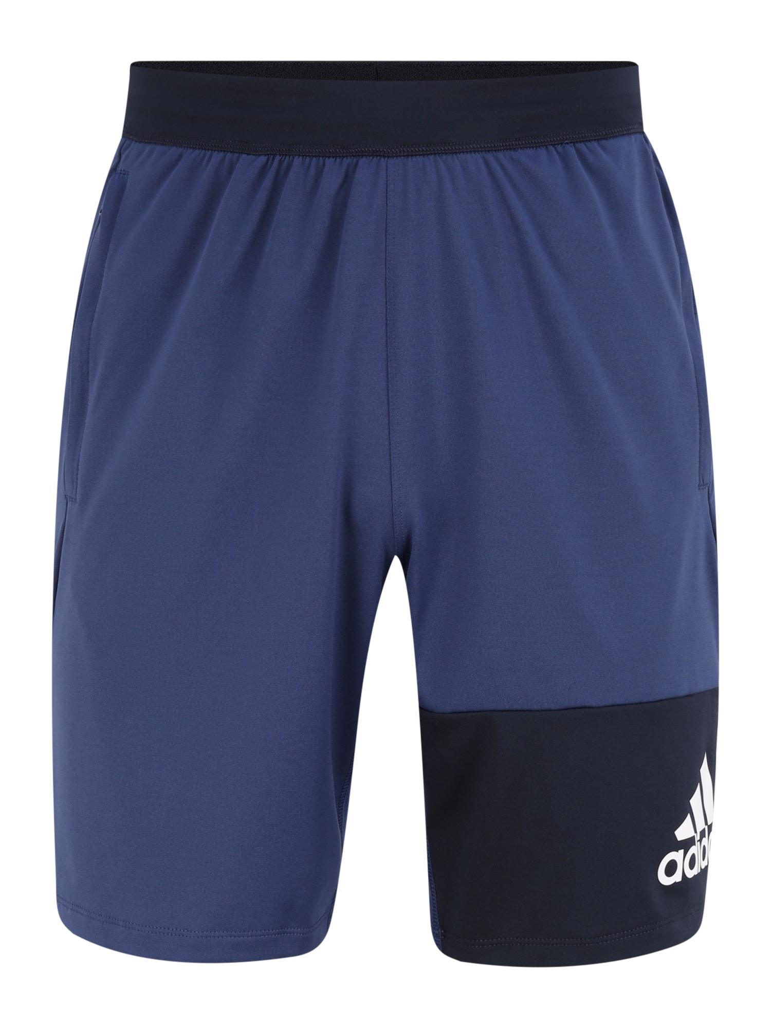 ADIDAS PERFORMANCE Sportinės kelnės '4K GEO SHORTS' juoda / mėlyna