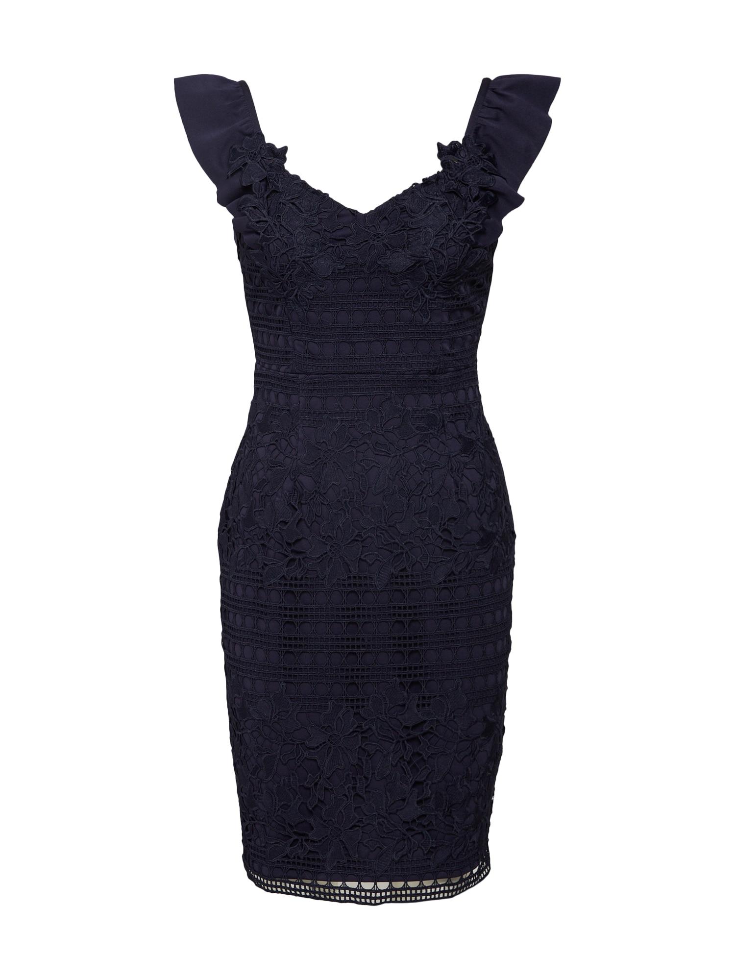 Koktejlové šaty námořnická modř Lipsy