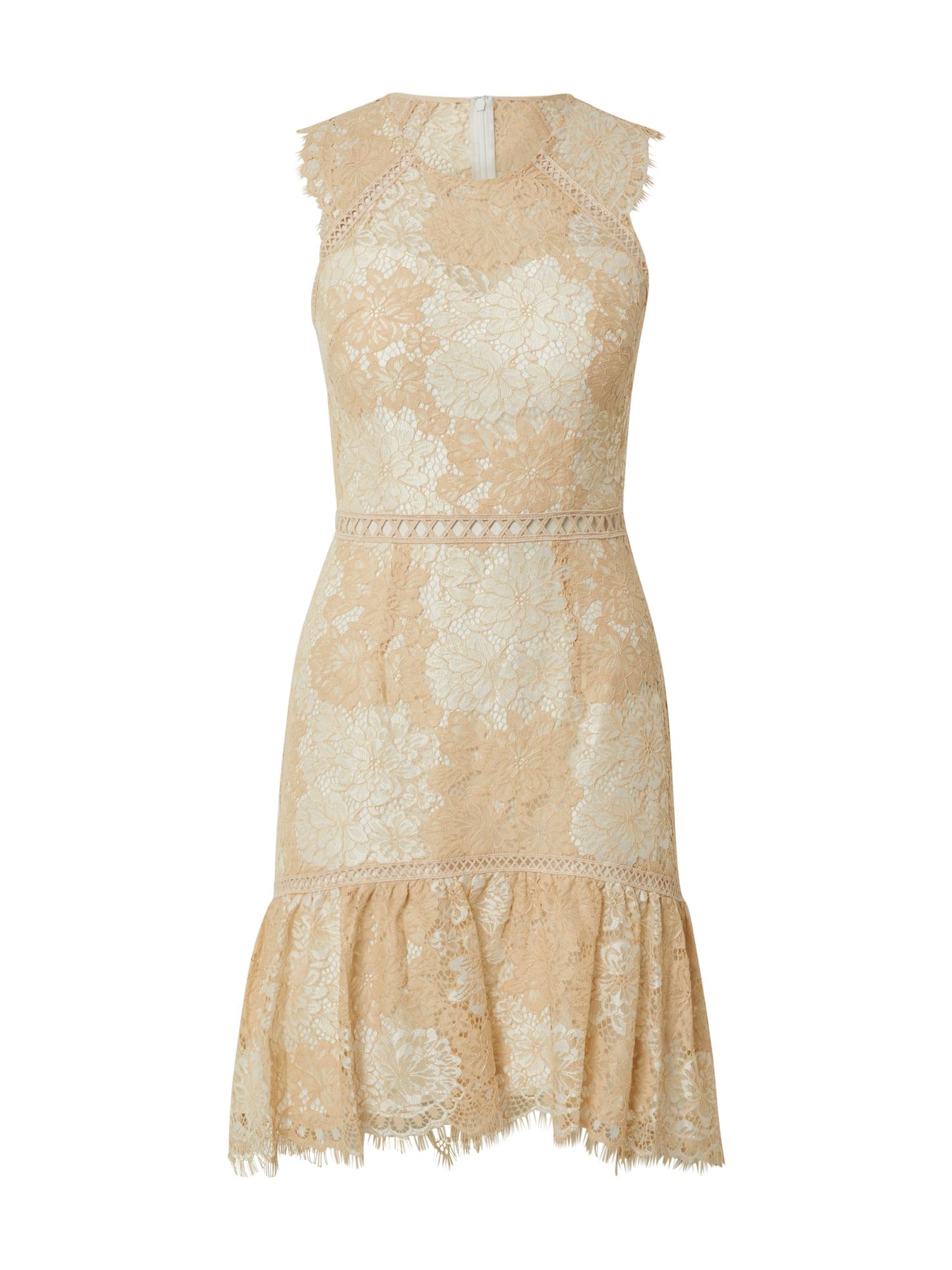 Laona Kokteilinė suknelė smėlio / balta