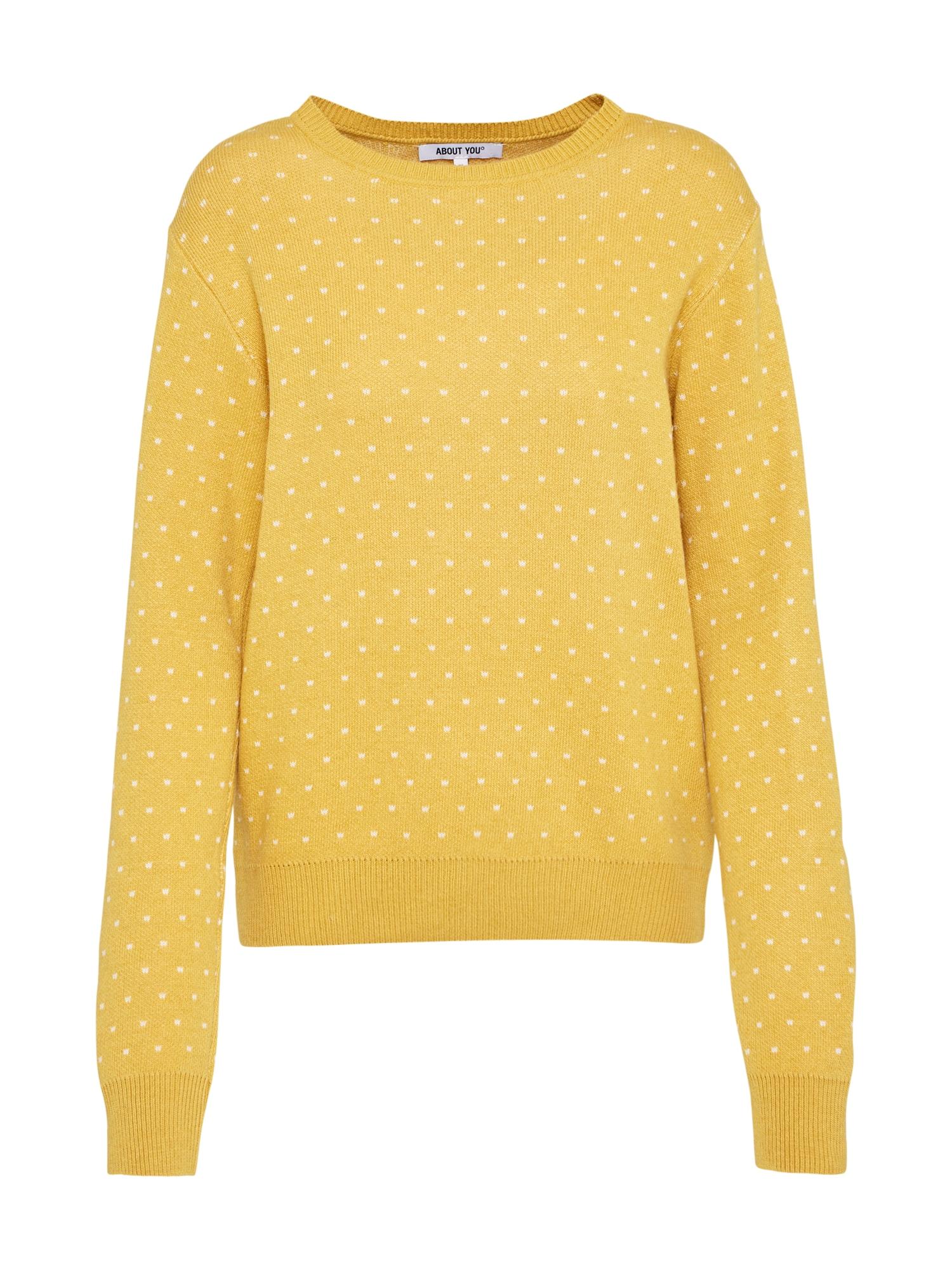 ABOUT YOU Megztinis 'Leena Jumper' geltona / kario spalva