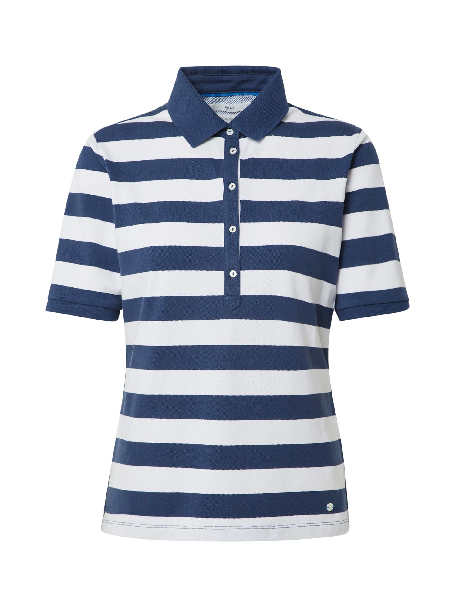 BRAX Marškinėliai 'Cleo' balta / mėlyna