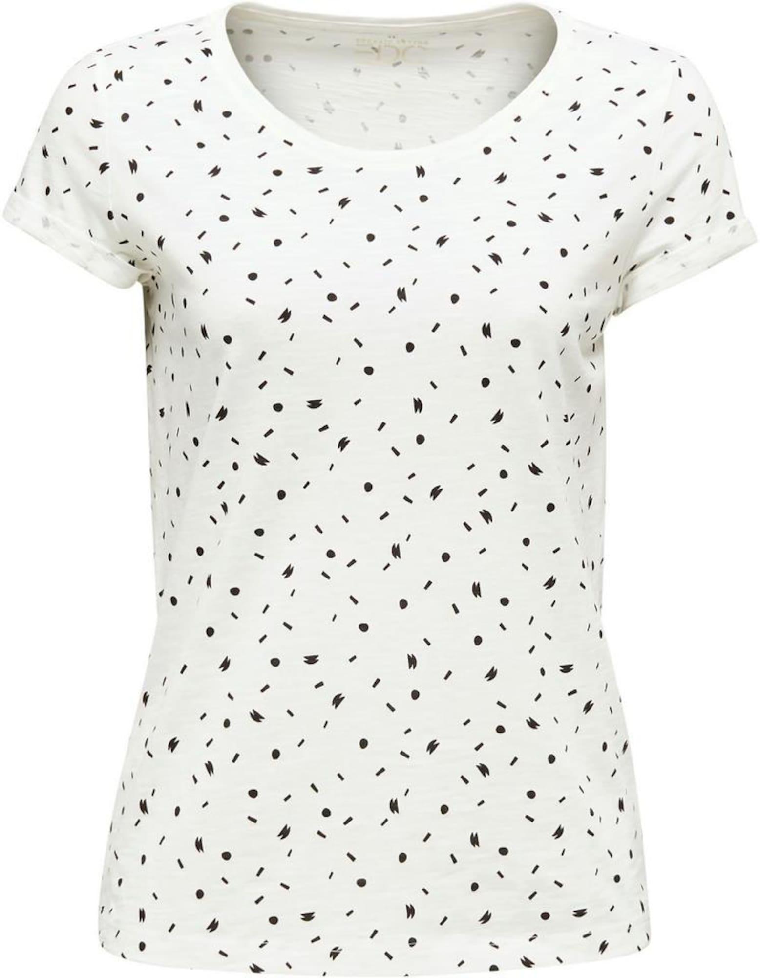 EDC BY ESPRIT Marškinėliai balta / juoda