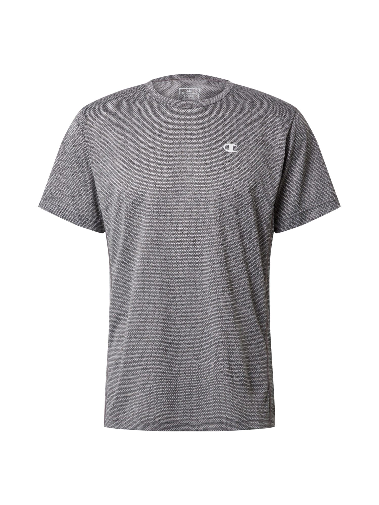 Champion Authentic Athletic Apparel Sportiniai marškinėliai balta / margai pilka