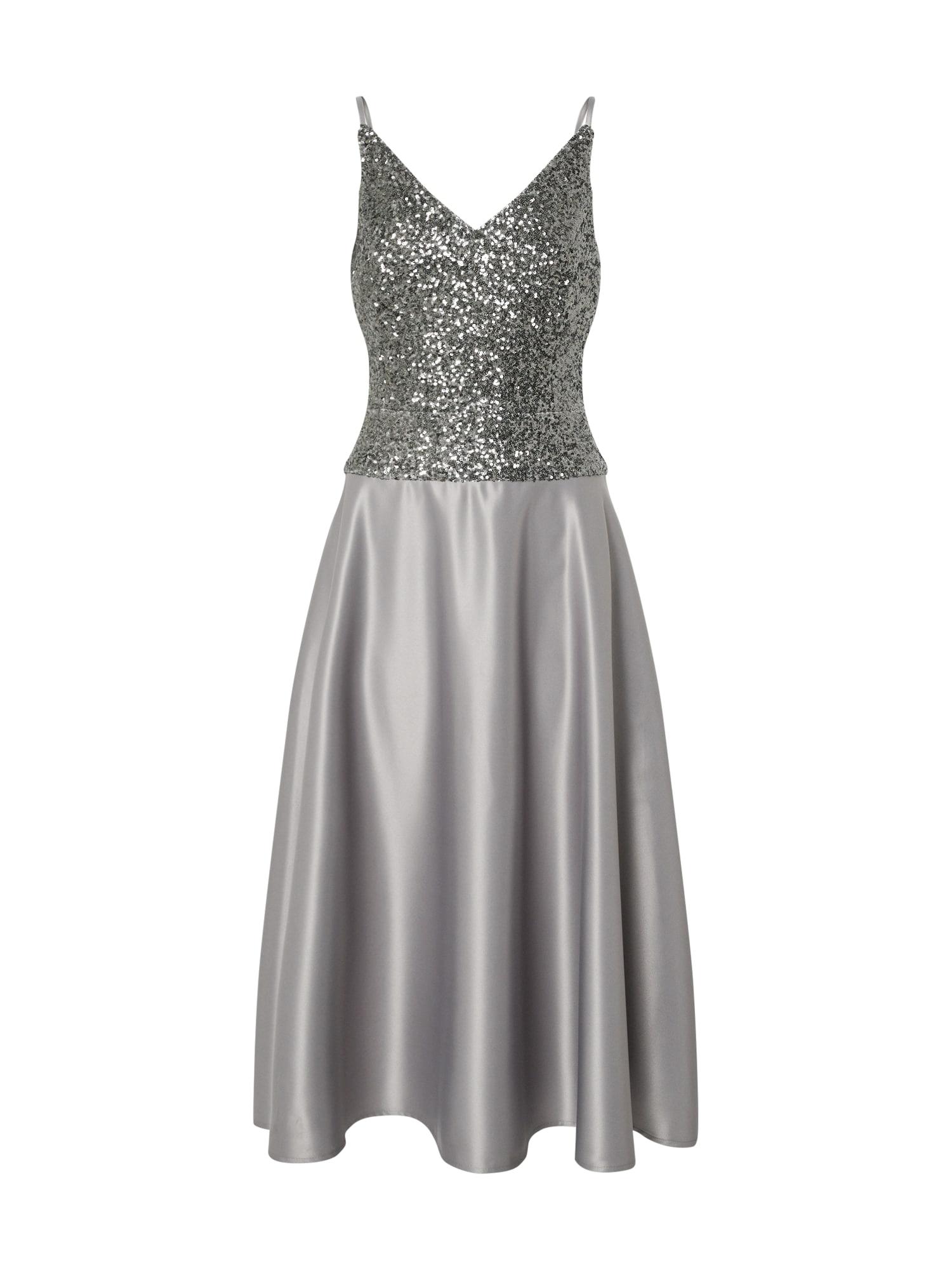 SWING Kokteilinė suknelė antracito