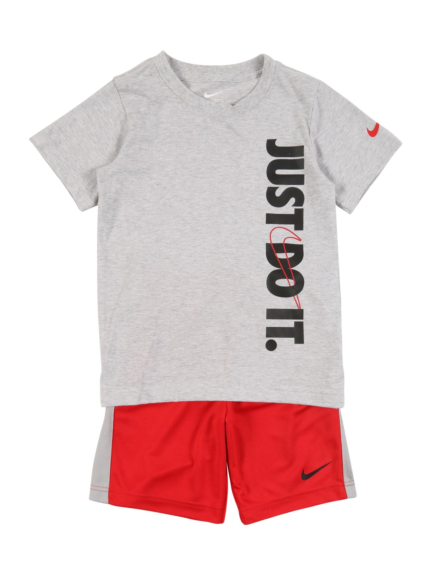 Nike Sportswear Rinkinys bazalto pilka / raudona