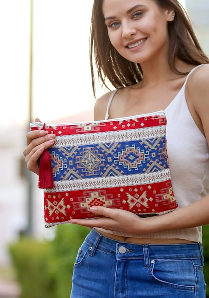 Clutches - Clutch › Chiccy › blau rot  - Onlineshop ABOUT YOU