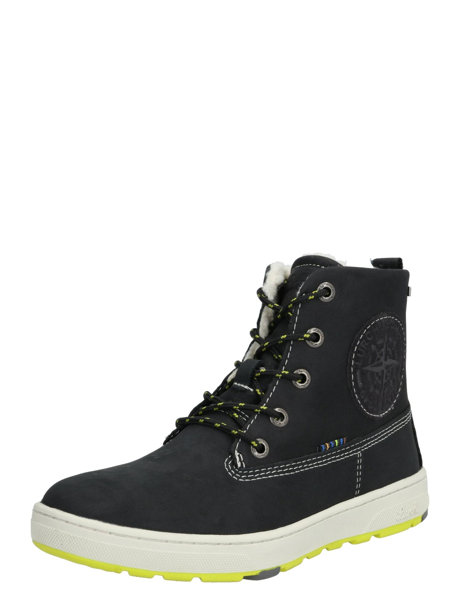LURCHI Auliniai batai su kulniuku geltona / juoda