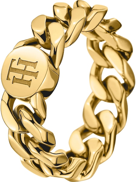 Ringe für Frauen - TOMMY HILFIGER Ring 'Classic Signature' gold  - Onlineshop ABOUT YOU