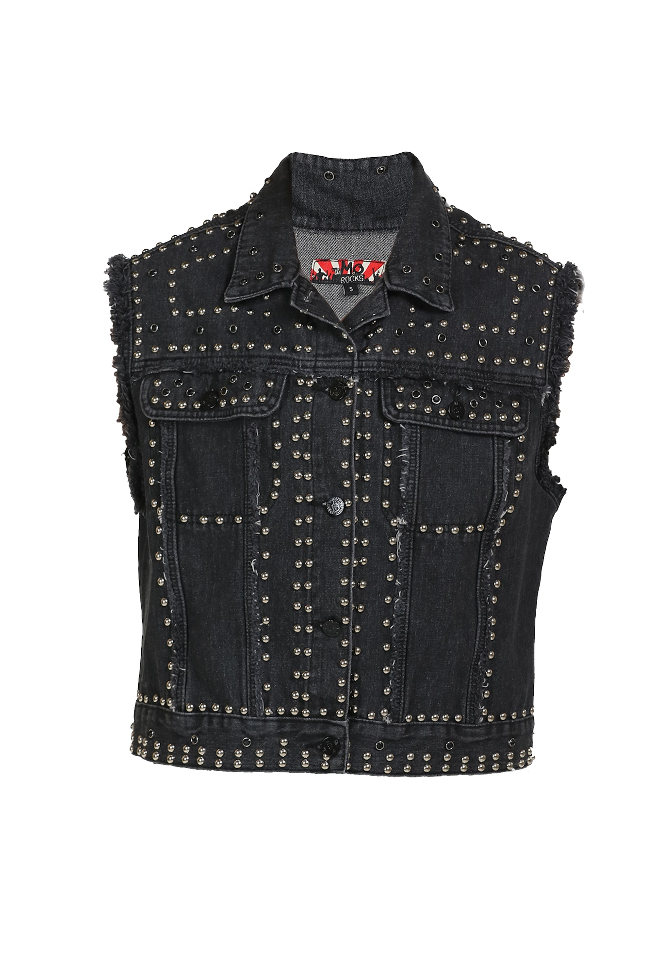 MYMO Liemenė 'ROCKS' juodo džinso spalva