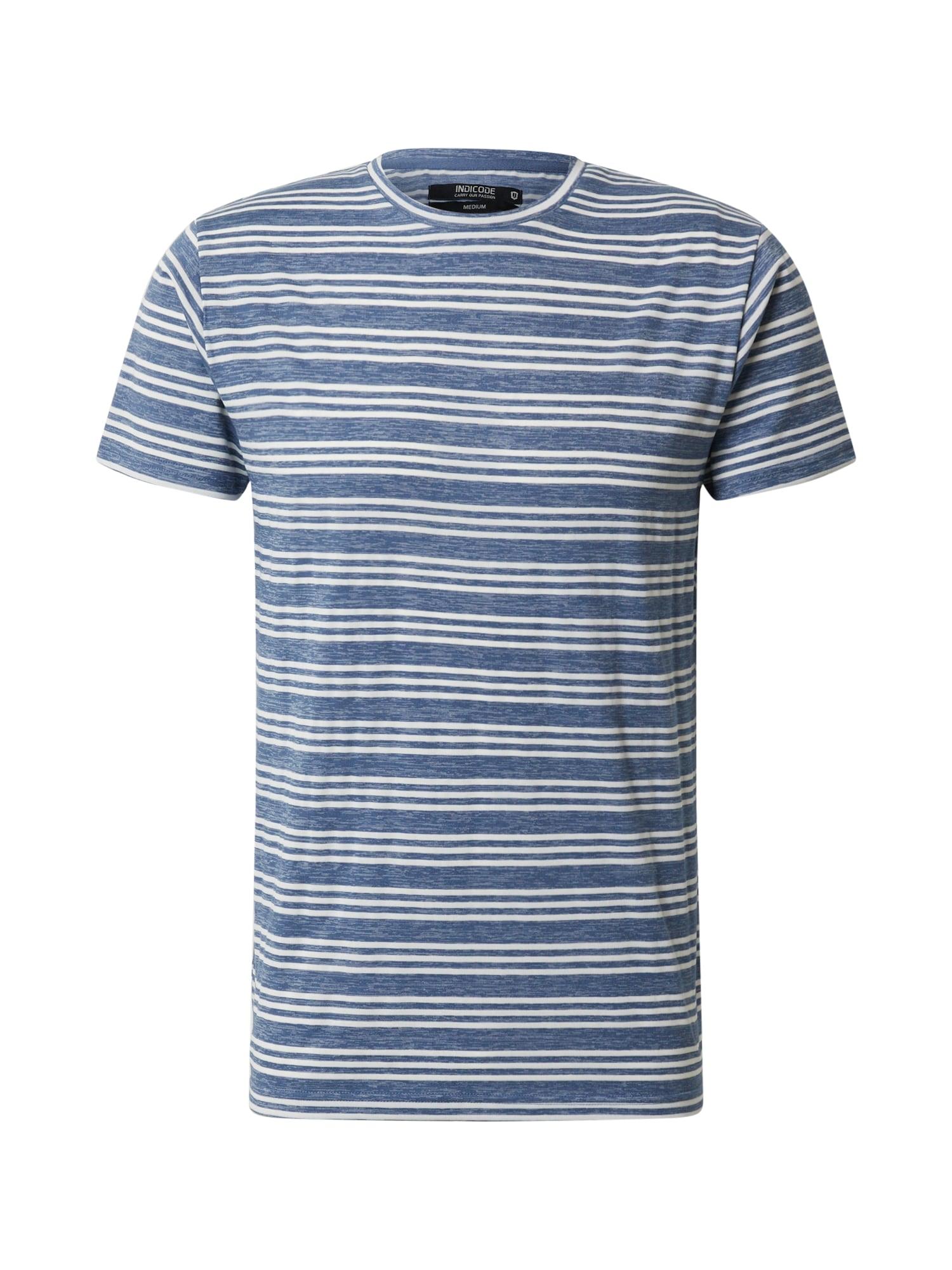 INDICODE JEANS Marškinėliai 'Lille' mėlyna