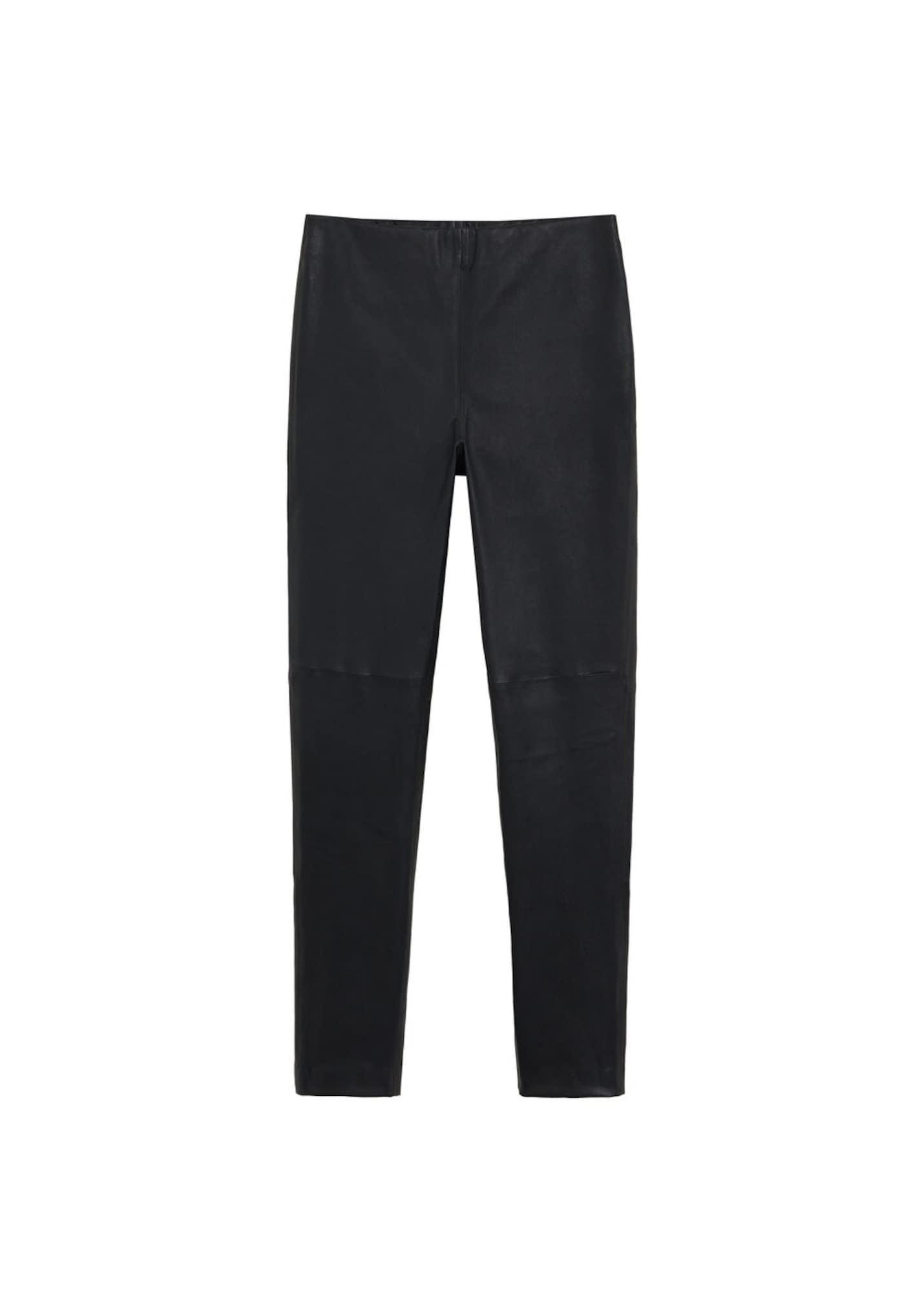 MANGO Kalhoty  černá