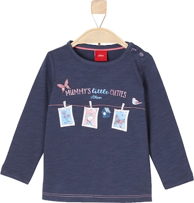 S.Oliver Junior Flammgarnshirt mit Illustration